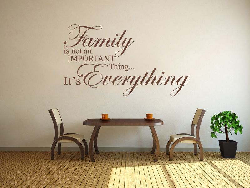 Quotes Wall Art Enchanting Family Is Everything  Wall Art Quote Wall Sticker Modern Vinyl